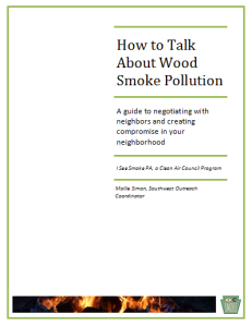 Wood smoke neighbor guide cover